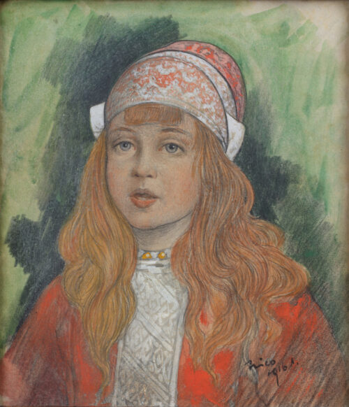 Nico Jungmann - A young girl in a Marken costume