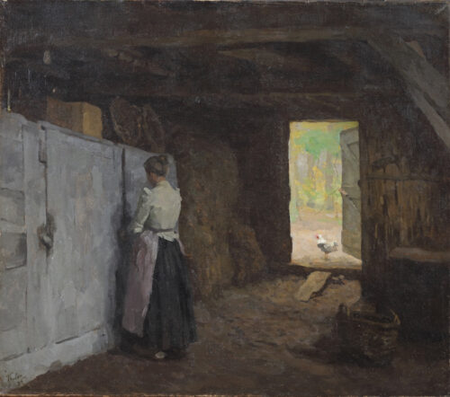 Willem Bastiaan Tholen - Peasant women in a barn