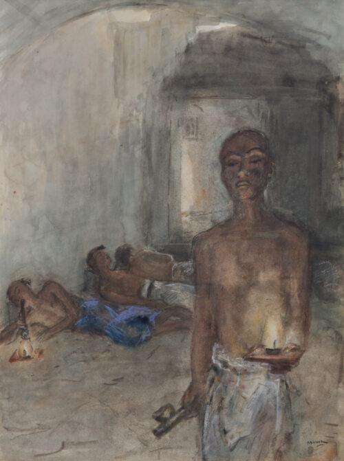 Marius Bauer-Opium-smokers, Saigon