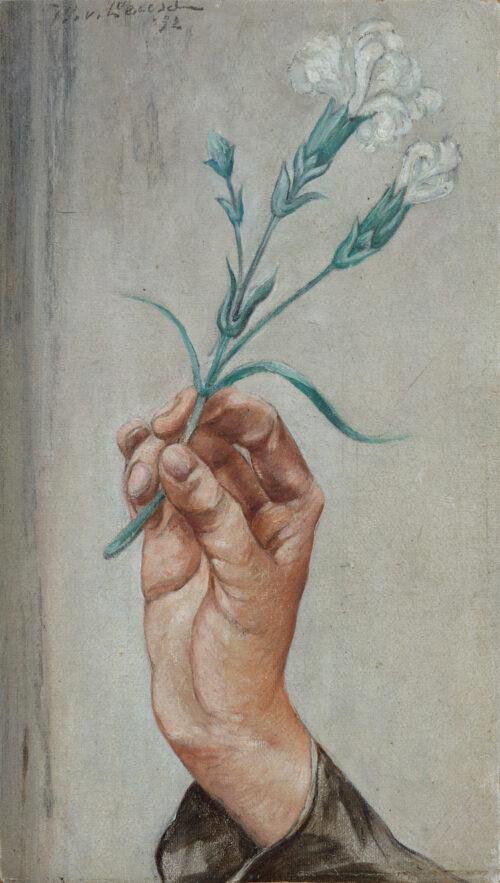 Willem van Leusden-Hand holding a carnation