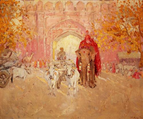 Adrien-Jean le Mayeur de Merpres-Porte Rose, Jaipur, India