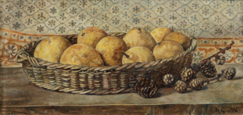 Anna Egter van Wissekerke-Quinces and pinecones