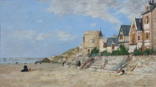 Eugène Boudin-La Tour Malakoff et le rivage à Trouville