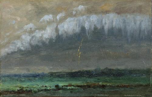 European School-Rain clouds and Lightning