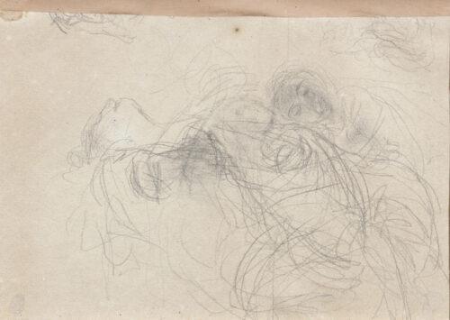 Gaetano Previati-a study of figures (verso)