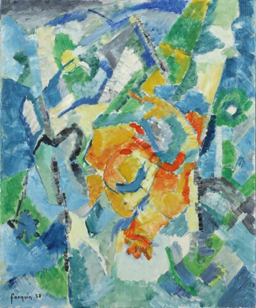 Jean Claude Forquin-Sunny Paysage-abstract composition