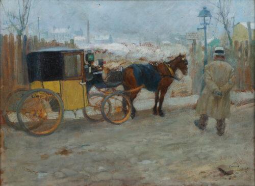 Leon Georges Carre - The Parisian cab