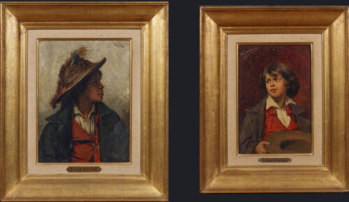 Leon Herbo - Young Neapolitan-A boy with a hatLeon Herbo - Young Neapolitan-A boy with a hat