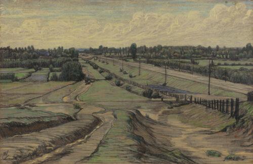 Maurits van der Valk-A rail track close to Amsterdam