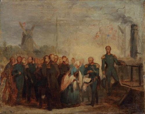 Willem Hendrik Schmidt-The departure of Princess Sophie