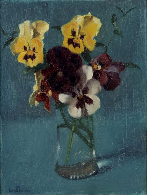 Willem Witsen-Violets in a vase