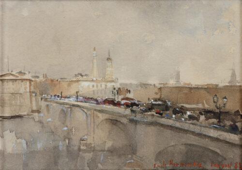 Emile Hoeterickx-Heavy Traffic on London Bridge