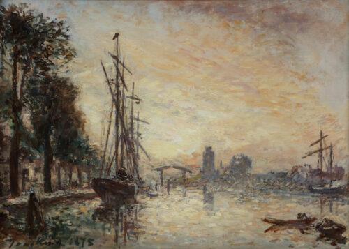 Johan Bartold Jongkind-Kalkhaven, Dordrecht, at sunset