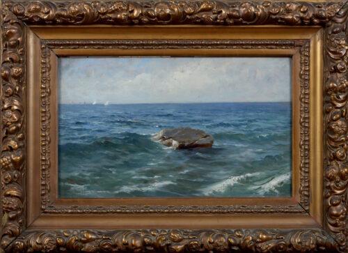 Luigi Napoleone Grady-Waves at Monterosso al Mare, cinque Terre, Italy