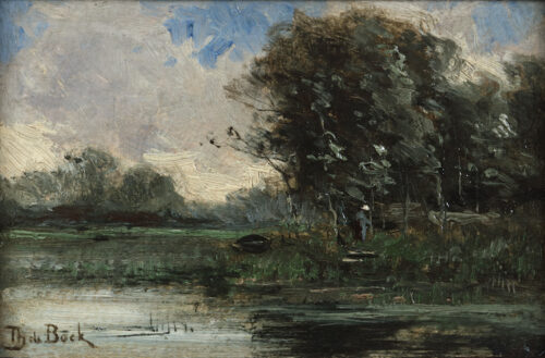 Theophile de Bock-On a river bank
