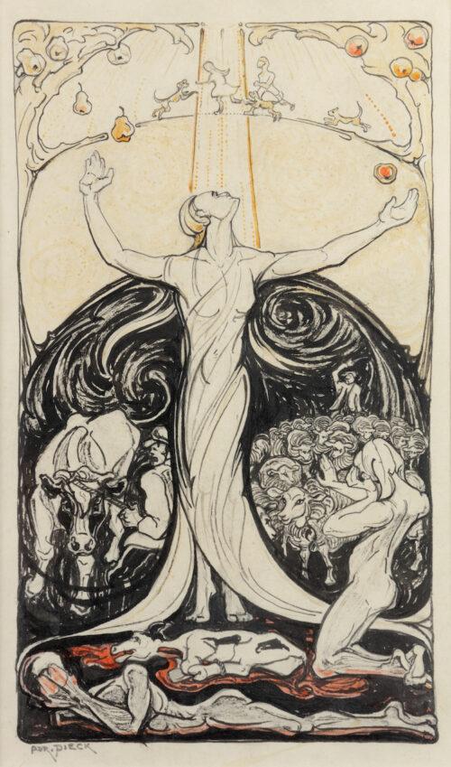 Adri Pieck-Pomona-Allegory of Vegetarianism