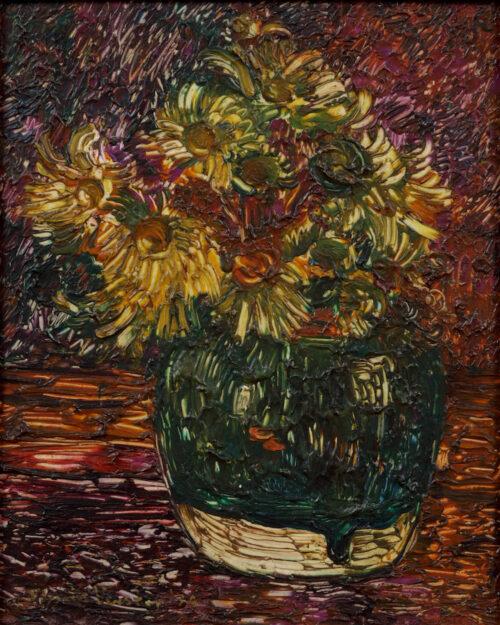 Floris Verster-Stillife with Doronicum in a ginger jar