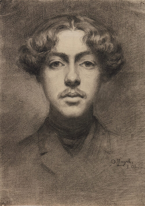 Otho Holland Lloyd-Self-portrait of the artist as a young man